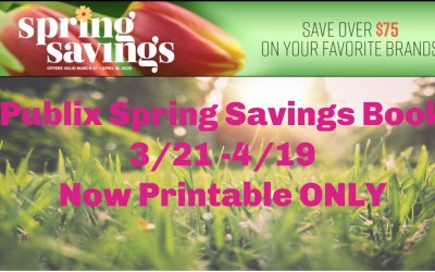 Printable Only: Publix Spring Savings Coupon Book 3/21/20 – 4/18/20