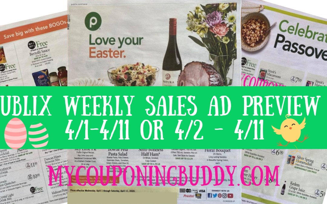 Easter Publix Weekly Sale Ad Preview 4/1-4/11 or 4/2 - 4/11