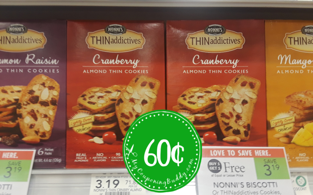 Nonni's Biscotti or THINaddictives Cookies Publix BOGO