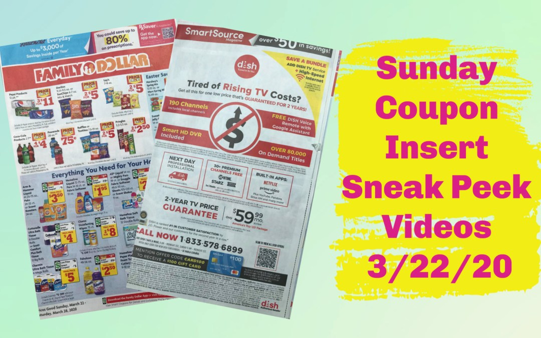 Sunday Coupon Insert Sneak Peek Videos 3/22/20