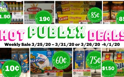 Best Deals of the Publix Weekly Sale 3/25/20 – 3/31/20 or 3/26/20  -4/1/20