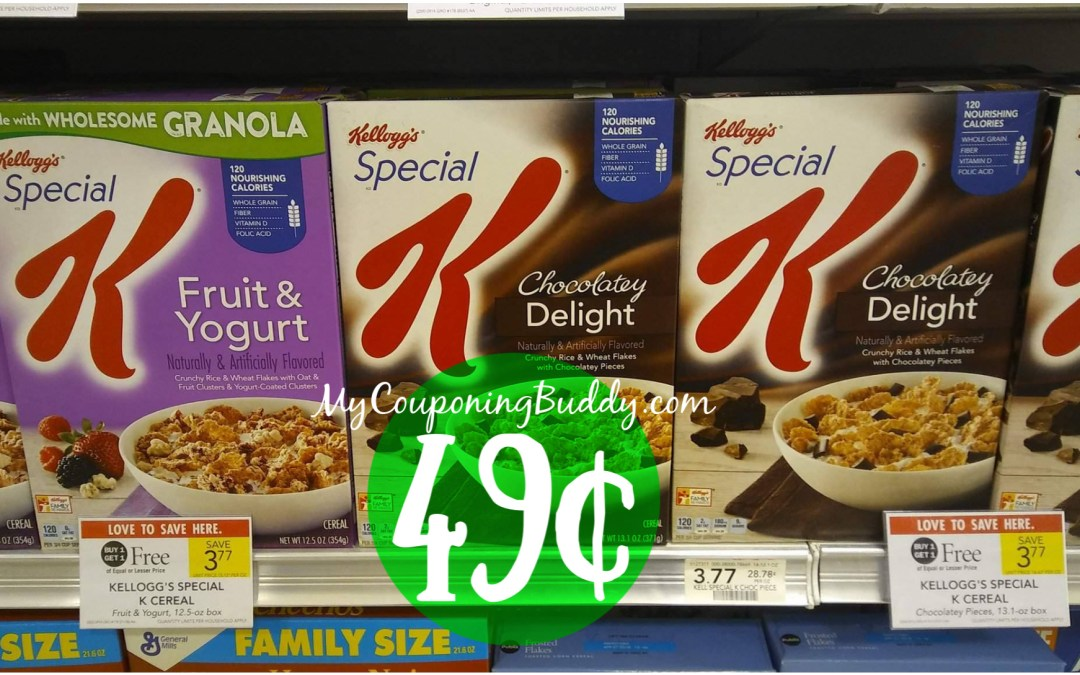 Kellogg's Special K Cereal 49¢ a box at Publix after coupons & Ibotta