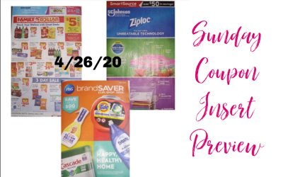 Sunday Coupon Insert Preview 4/26/20