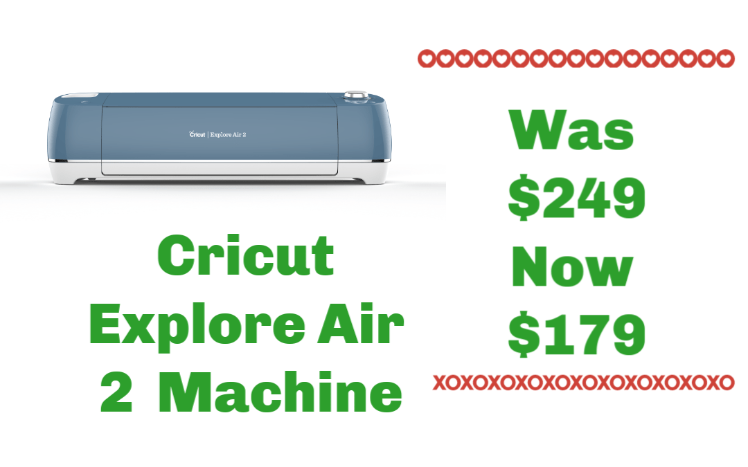 Cricut Explore Air 2 Candy Apple Red Machine