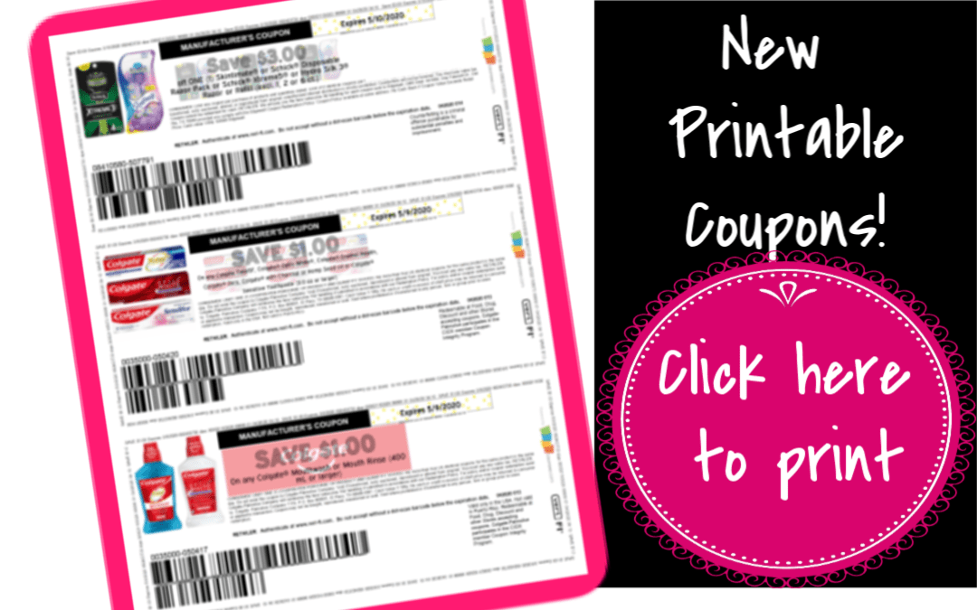 New Printable Coupons Schick, Loreal, Claritin, COlgate