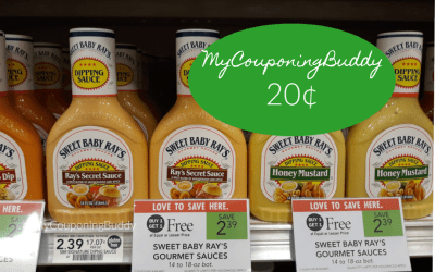 Sweet Baby Ray's Gourmet Dipping Sauces  20¢ at Publix