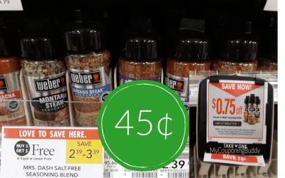 Weber Seasoning45¢ at Publix