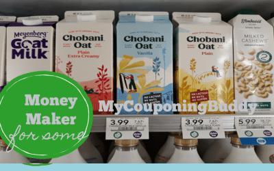 Money Maker on Chobani Oat Milk for some at Publix