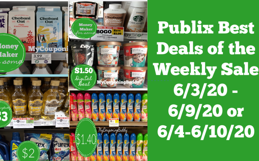 Publix Best Deals of the Weekly Sale 6/3/20 - 6/9/20 or 6/4-6/10/20