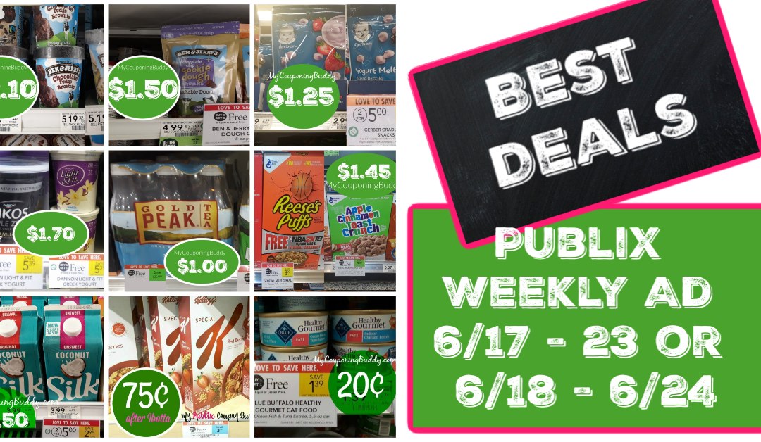 Publix Weekly Ad 6/17 – 23 or 6/18 – 6/24