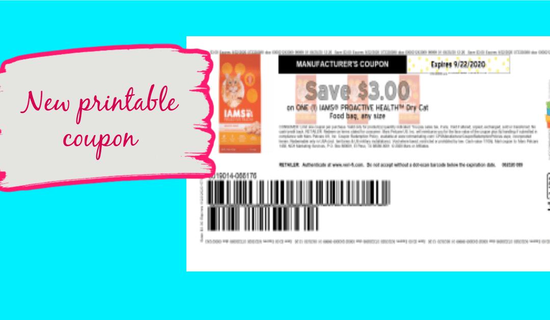 Save $3.00 on ONE (1) IAMS® PROACTIVE HEALTH™ Dry Cat Food bag, any size
