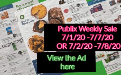 Sneak Peek Ad Publix Weekly Sale 7/1/20 -7/7/20 OR 7/2/20 -7/8/20