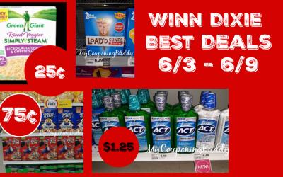 Winn Dixie Weekly Ad Best Deals  06/03/20 – 06/09/20