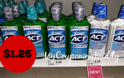 Act Mouthwash just $1.25 at Winn Dixie