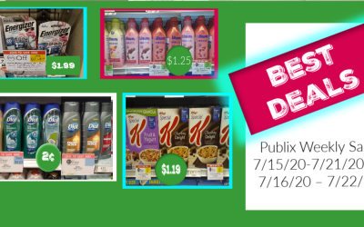 Best Deals of the Publix Weekly Sale 7/15/20-7/21/20 or 7/16/20 – 7/22/20