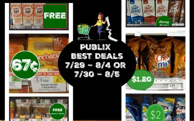 Publix Best Deals Weekly Sale  7/29 – 8/4 or 7/30 – 8/5