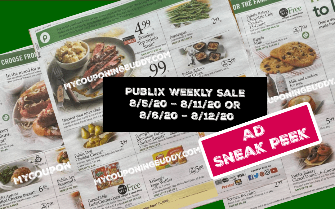 Publix Weekly Sale 8/5/20 – 8/11/20 or 8/6/20 – 8/12/20