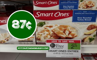 Smart Ones Entrees  87¢ at Publix