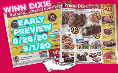 Early Preview Winn Dixie Ad 8/26/20 – 9/1/20