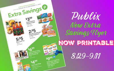 """Now Printable: Publix """"Extra Savings"""" Flyer Valid 8/29-9/11"""