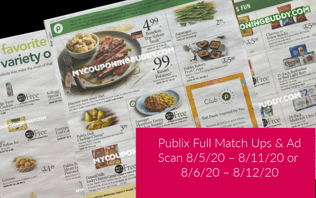 Publix Weekly Sale 8/5/20 – 8/11/20 or 8/6/20 – 8/12/20 Ad Sneak Peek Matchups