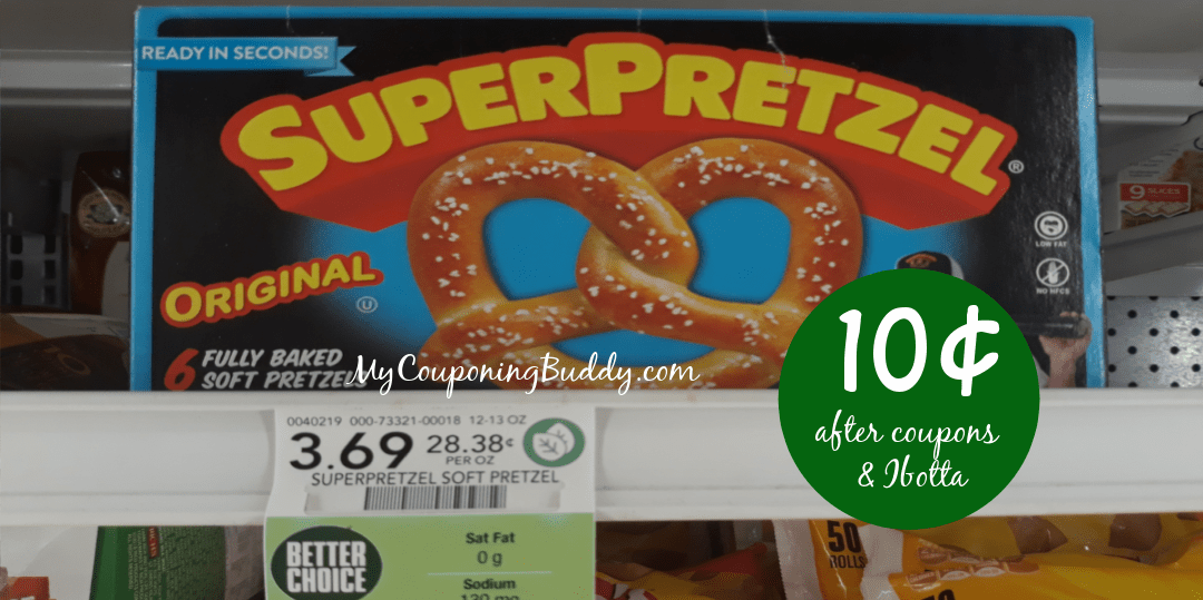 Super Pretzel 10¢ at Publix (after coupons & rebate)
