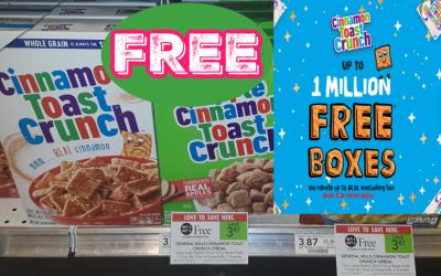FREE Box of Cinnamon Toast Crunch