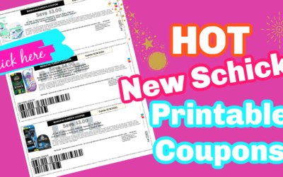 New Printable Coupons ~ Schick,  Skintimate & more!