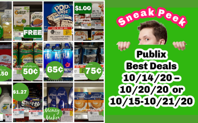 Best Deals ~ Publix Weekly Sale 10/14/20 – 10/20/20 or 10/15-10/21/20
