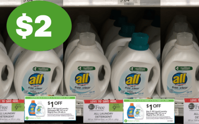 All Laundry Detergent $2 after Coupons & Ibotta at Publix