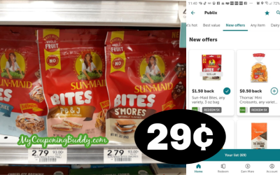 New Sun Maid Bites just 29¢ at Publix