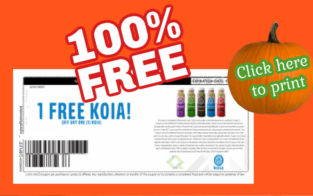 Free Koia Drink Coupon ~ try today!