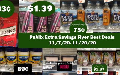 Publix Extra Savings Flyer Best Deals 11/7/20- 11/20/20