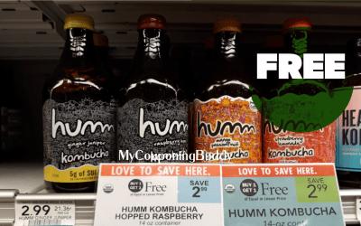 FREE Humm Kombucha  after Digital Coupon & Ibotta at Publix