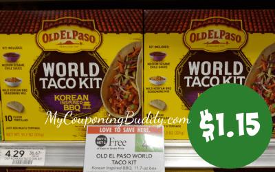 Old EL Paso Old World Taco Kit $1.15 at Publix