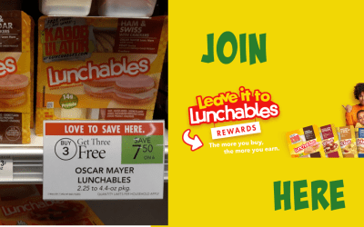 Lunchables B3G3 FREE & Join Rewards Program