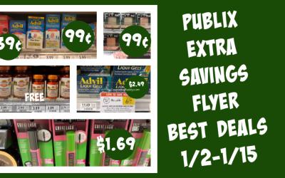 Publix Extra Savings Flyer Best Deals  1/2-1/15