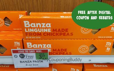 Banza Chickpea Pasta FREE after rebates & Publix digital coupon