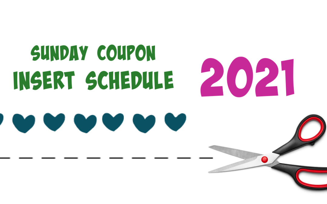 Sunday Coupon Insert Schedule 2021