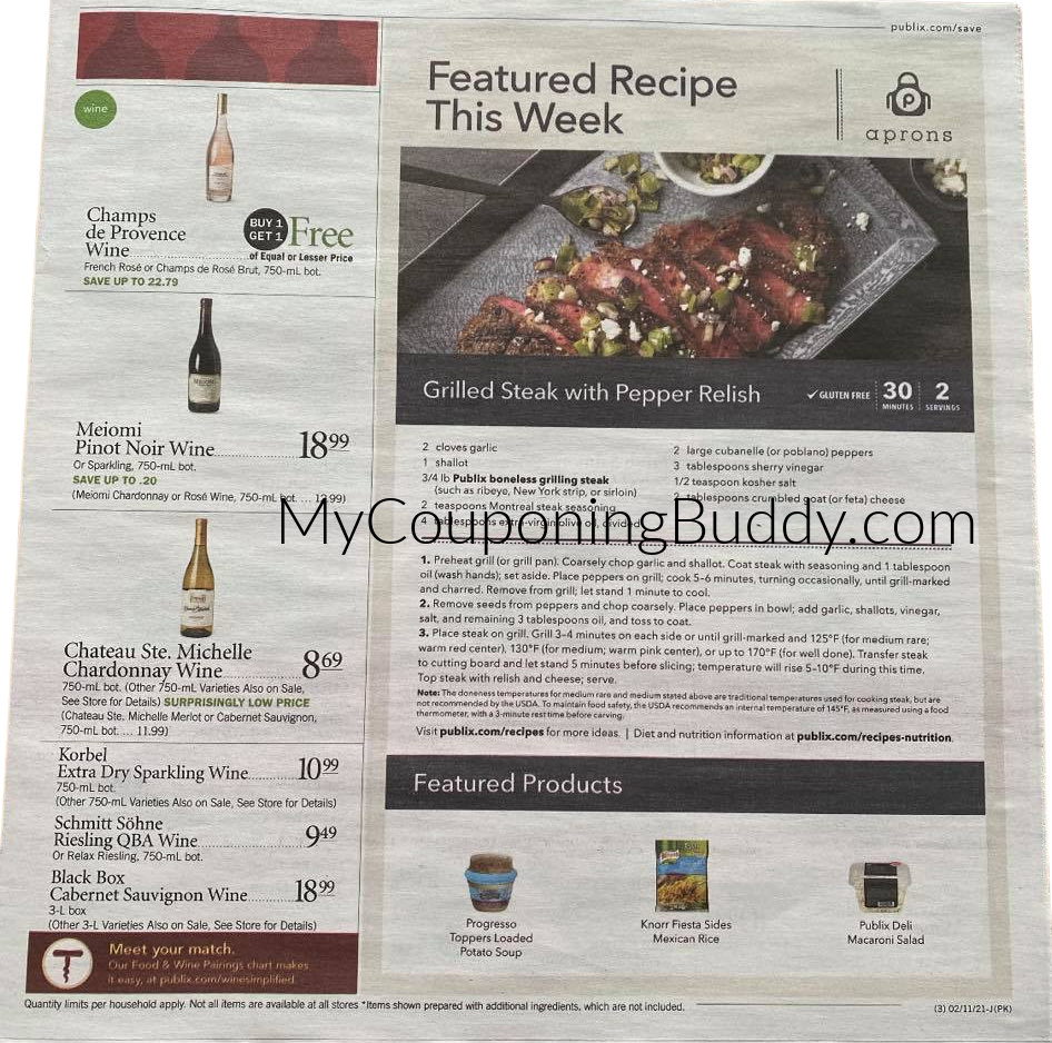 Publix Early AD PREVIEW Weekly Sale 2/10/21 - 2/16/21 OR 2/11/21 - 2/17/21