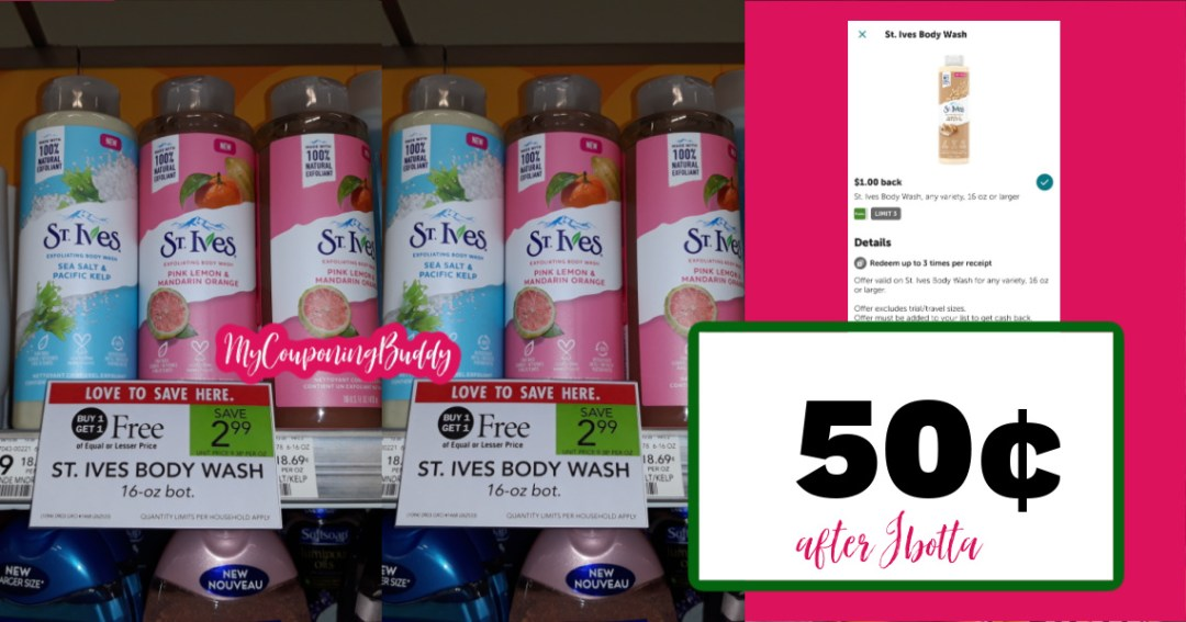 St Ives at Publix BOGO sale