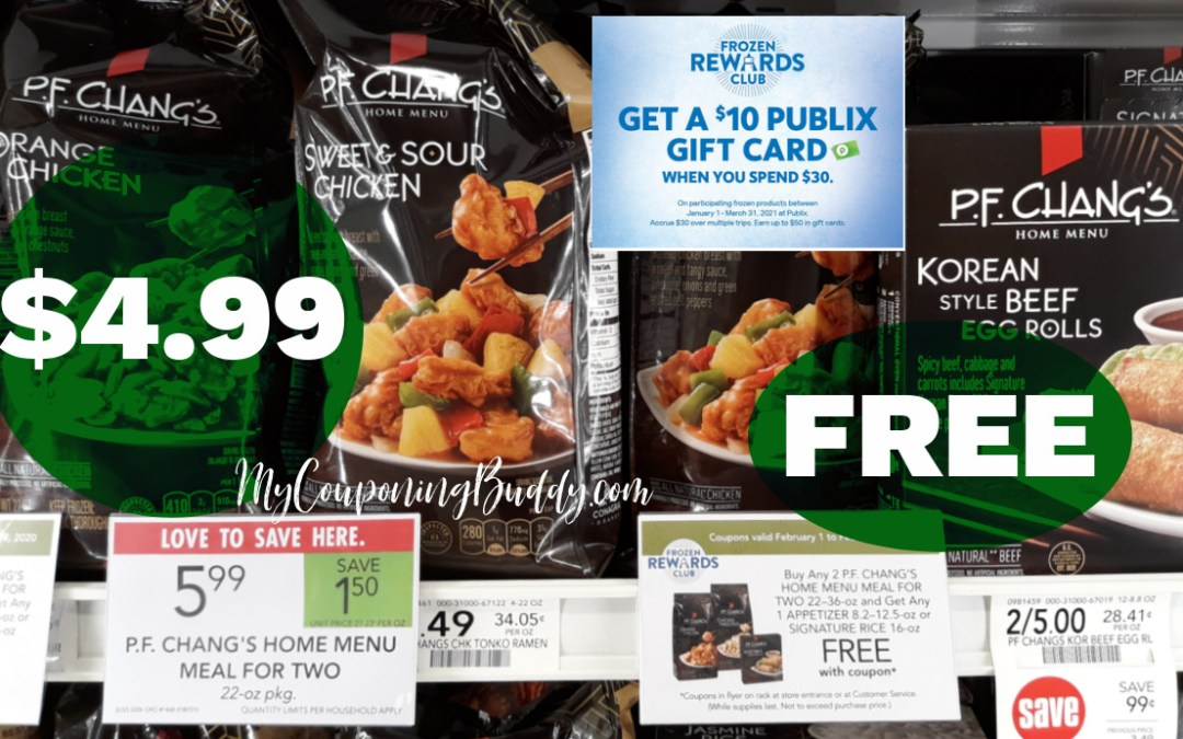 P.F. Changs Publix Weekly Sale 2/10/21 - 2/16/21 OR 2/11/21 - 2/17/21