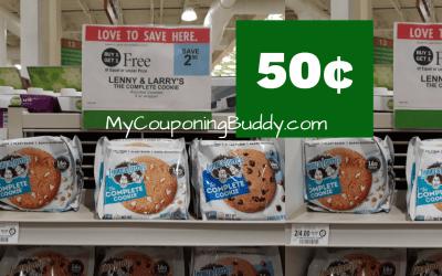 Lenny & Larry's Cookies 50¢ at Publix