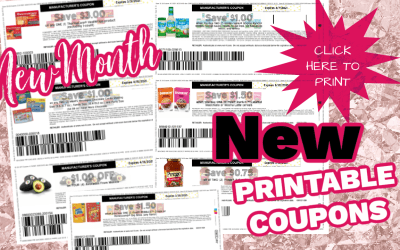New Printable Coupons for the First of the Month