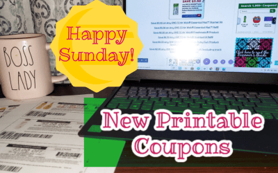 Happy Sunday! New Printable Coupons