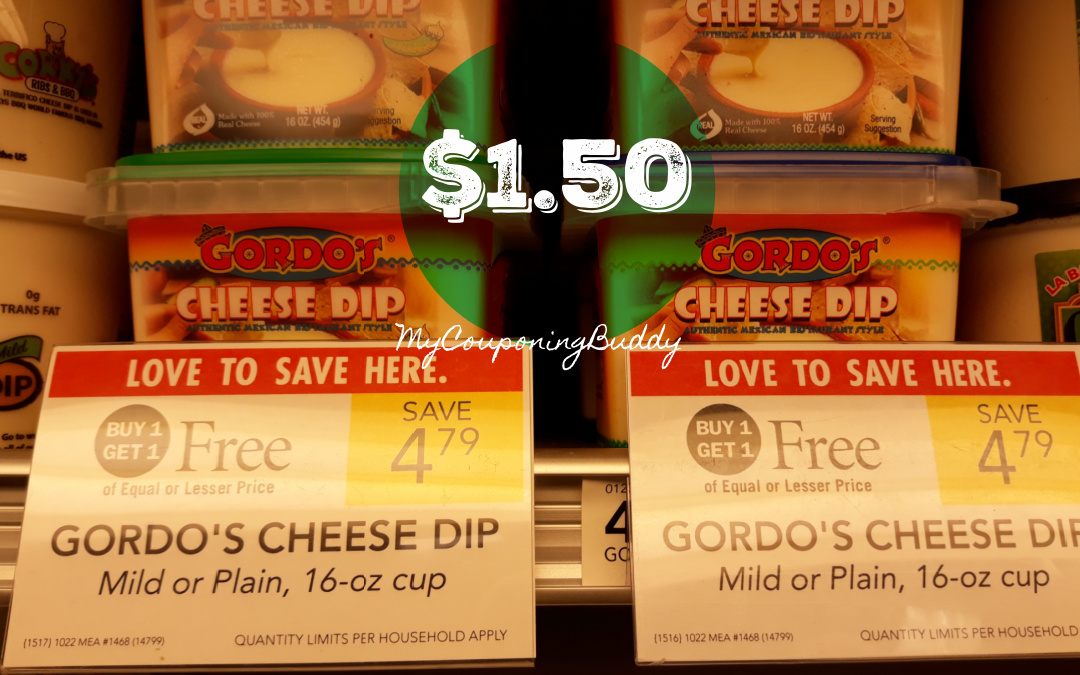 Gordo's Cheese Dips $1.50 at Publix