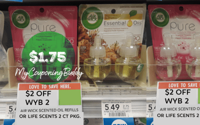 Air Wick Scented Oil Refill 2pk. $1.75 at Publix