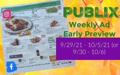 Early Ad Preview Publix Weekly Sale 9/29/21 – 10/5/21 (or 9/30 – 10/6)