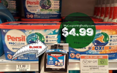 Persil Laundry Detergent 38 ct $4.99 at Publix