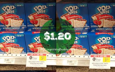 Pop Tarts 12pk $1.20 at Publix